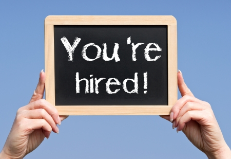 You are hired Stock Photo - 19698680