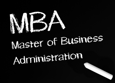 mba: MBA - Master of Business Administration Stock Photo