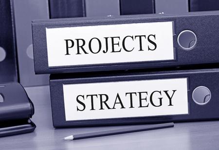 marketingplan: Projects and Strategy Stock Photo