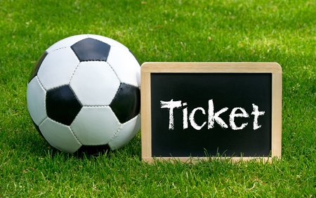 stadium soccer: Soccer Ticket Stock Photo
