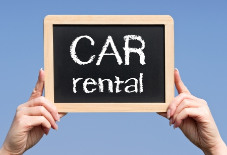 hire: CAR rental Stock Photo