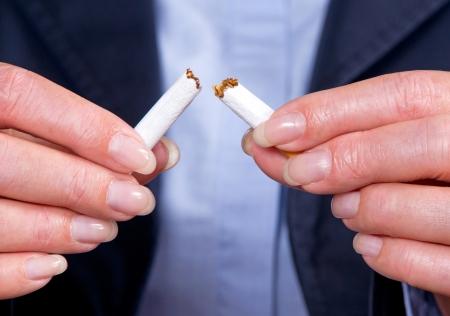 woman stop: Non Smoker