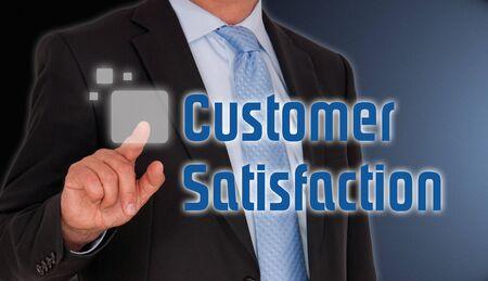 satisfaction client: Satisfaction du client  Banque d'images