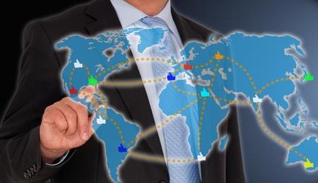 obchod: Sociální média - Global Community Reklamní fotografie