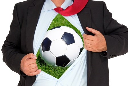 Soccer Fan or Soccer Trainer Stock Photo - 20428010