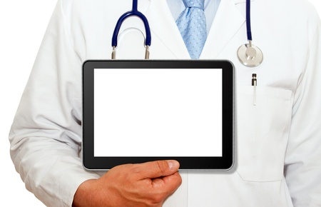 care providers: Physician with Tablet PC
