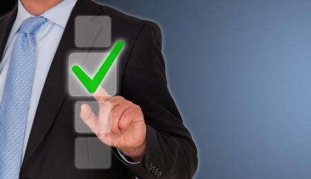 Businessman with Checklist photo