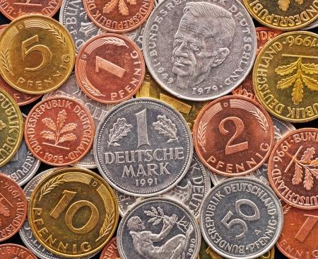 german mark: Old German Currency - Deutsche Mark Stock Photo