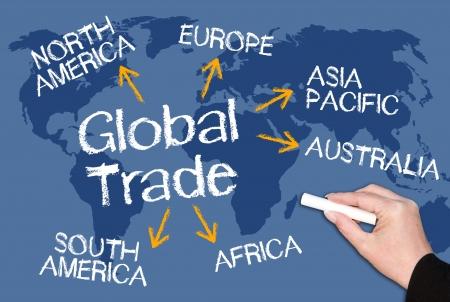 Le commerce mondial Banque d'images - 21402497
