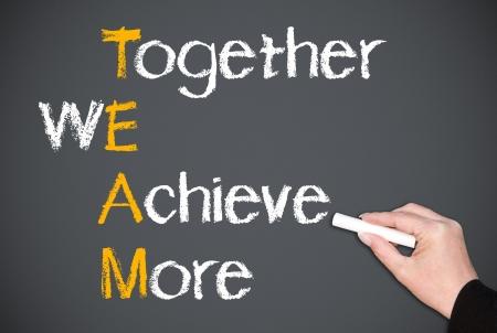 trabajo de equipo: Juntos podemos lograr m�s