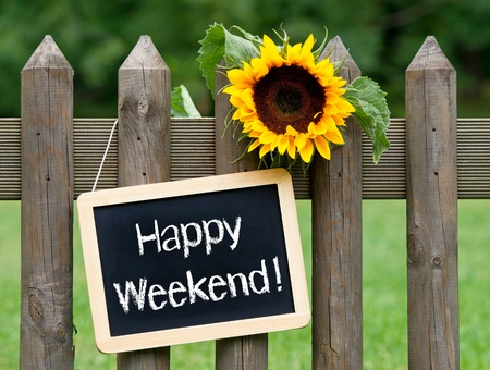 sunday: Happy Weekend Stock Photo