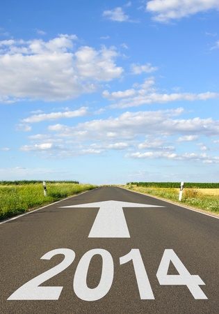 new beginnings: 2014 - Road with Arrow