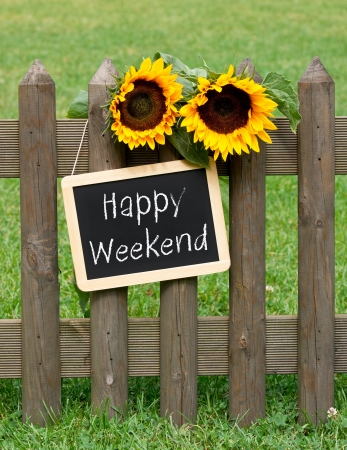 saturday: Happy Weekend Stock Photo