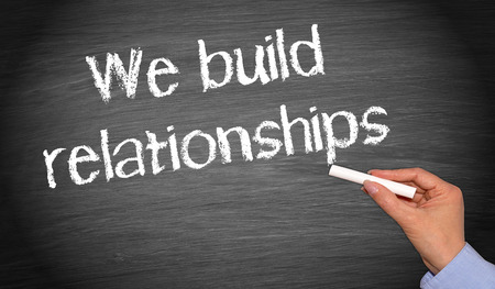 experience: We build relationships Stock Photo