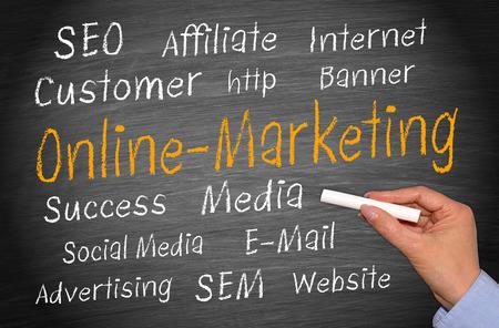 abastecimiento: Marketing Online Foto de archivo