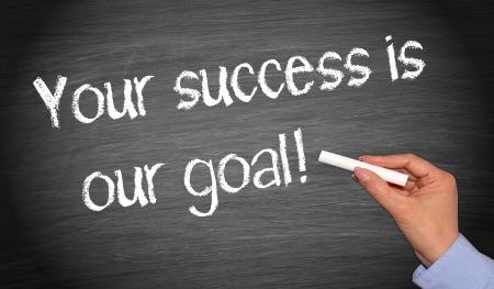 Uw succes is ons doel Stockfoto