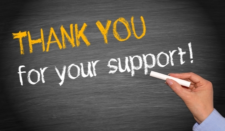 merci: Merci pour votre soutien