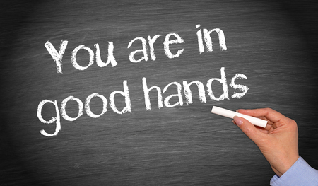 a courtesy: You are in good hands