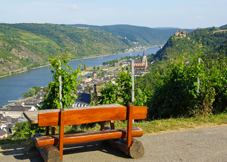 Rhine River Panorama View photo