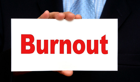 Businessman with Burnout photo