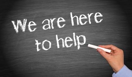 Nous sommes là pour vous aider Banque d'images - 22645772
