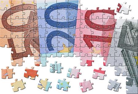Euro Puzzle Stok Fotoğraf