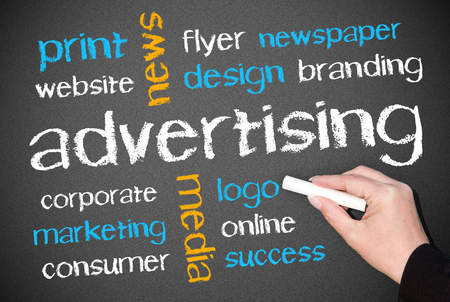 Advertising - Business Concept Stock Photo