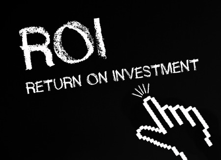 stock market return: ROI - Return on Investment Stock Photo
