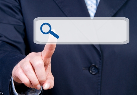 web browser: Internet Search Toolbar Stock Photo