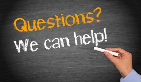 preguntando: Podemos ayudar a Foto de archivo