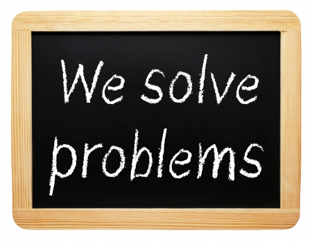 we: We solve problems Stock Photo