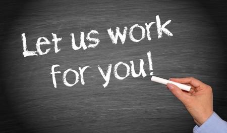 let on: Vamos a trabajar para usted