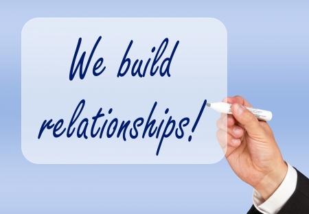 We build relationships Stock Photo - 22836409