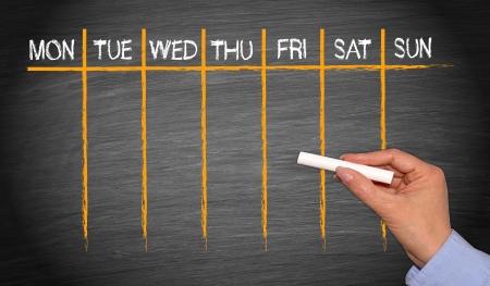 calendario escolar: Calendario semanal
