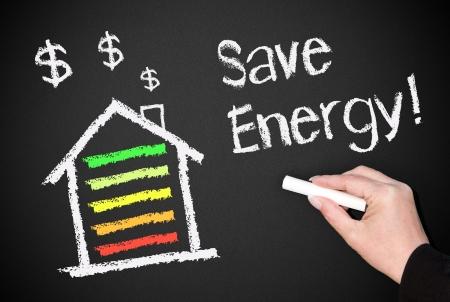 eficiencia energetica: Ahorro de Energía Foto de archivo