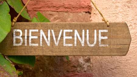 foreign: Bienvenue Stock Photo