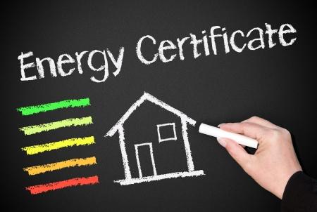 energy savings: Energy Certificate Stock Photo