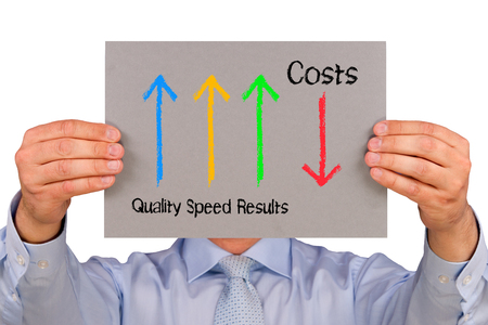 cost reduction: Performance Management - Business Concept
