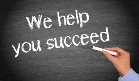 succeed: We help you succeed Stock Photo