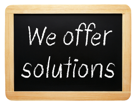 We offer solutions Stock Photo - 22836817