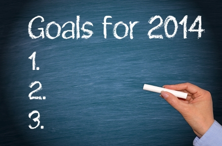 Goals for 2014 Stock Photo - 22836820