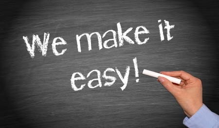 we: We make it easy