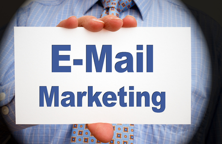 website traffic: E-Mail Marketing Stock Photo