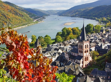 Rhine River in Germany - Unesco World Heritage Site Stok Fotoğraf - 22978696