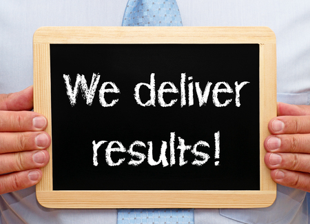 consulting team: We deliver results Stock Photo