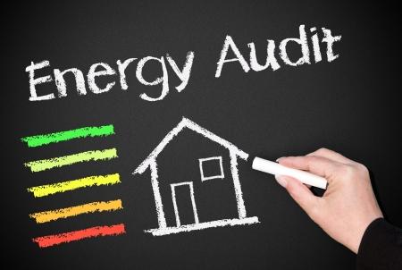 eficiencia energetica: Auditor�a Energ�tica Foto de archivo