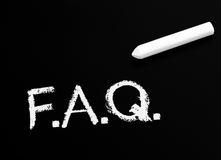 client meeting: FAQ - Frequently Asked Questions Stock Photo