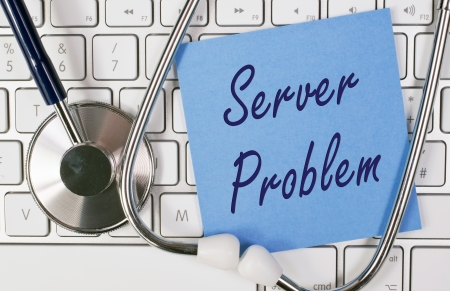 disconnected: Server Problem Stock Photo