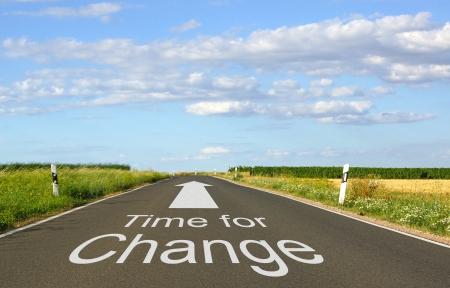 gestion del tiempo: Tiempo para el cambio Foto de archivo
