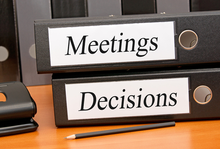 minute: Meetings and Decisions Stock Photo